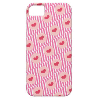 Candy Stripes Red Love Hearts Valentine's Day Case For The iPhone 5