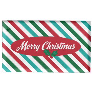 Candy Stripes Retro Christmas Placecard Holder Table Card Holders