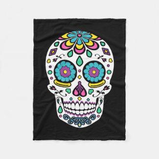 Candy Sugar Skull Fleece Blanket