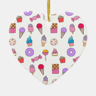 Candy, sweets and cake ceramic ornament