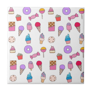 Candy, sweets and cake ceramic tile