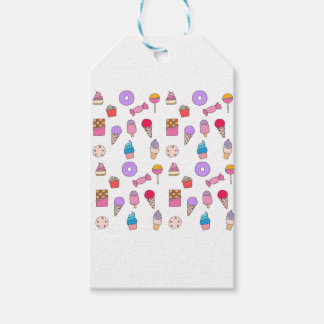 Candy, sweets and cake gift tags