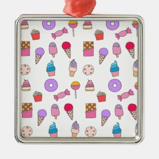 Candy, sweets and cake metal ornament