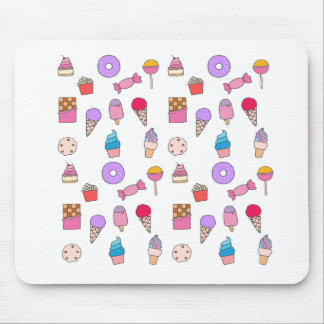 Candy, sweets and cake mouse pad