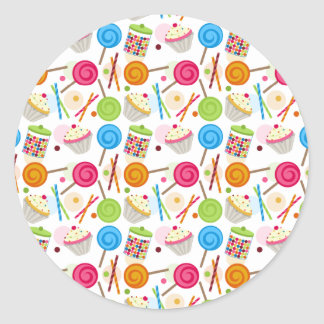 Candy & Sweets Pattern Envelope Seal Sticker