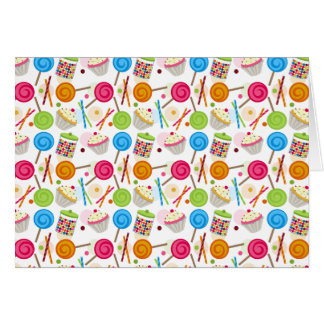 Candy & Sweets Pattern Notecard