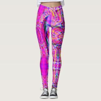 Candy Swirl Fractal Pastel Goth Leggings
