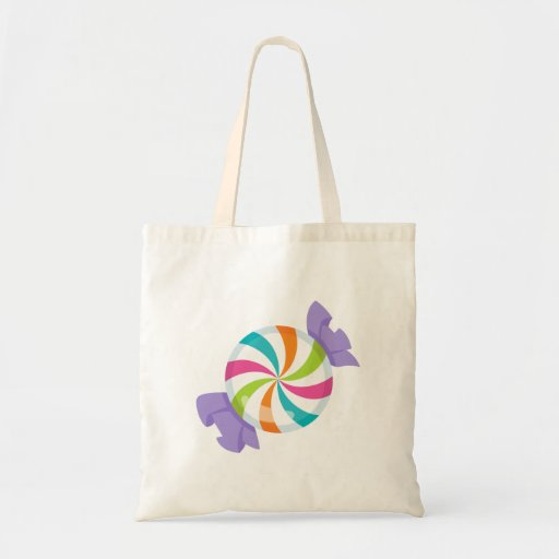 Candy Swirl Trick or Treat Canvas Bag