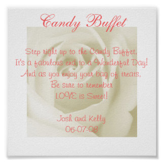 Candy Table Poem Poster