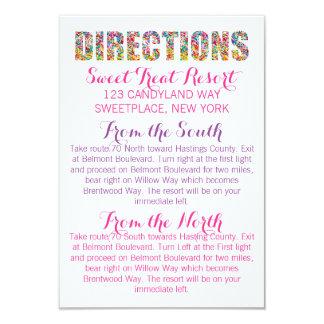 Candy Theme DIRECTIONS Card 9 Cm X 13 Cm Invitation Card