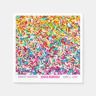 Candy Theme Party Napkin Sprinkles Sweet 16 Disposable Napkin