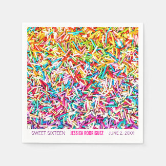 Candy Theme Party Napkin Sprinkles Sweet 16 Paper Serviettes