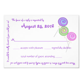 Candy Treasures Message Text Response Card