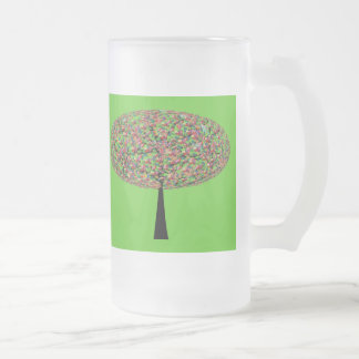 Candy Tree Frosted Glass Mug