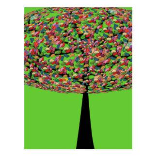 Candy Tree Postcard