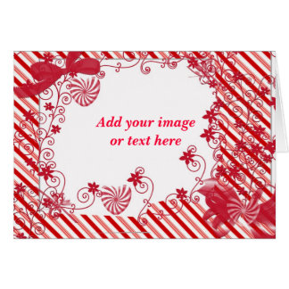 Candy vine,customizable Greeting card