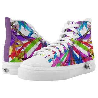 Candy Waters Autism Artist High Tops