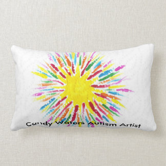 Candy Waters Autism Artist Lumbar Cushion