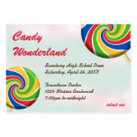 Candy wonderland custom logo prom admission ticket pack of chubby business cards