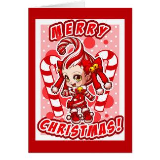 Candycane-chan Christmas Card