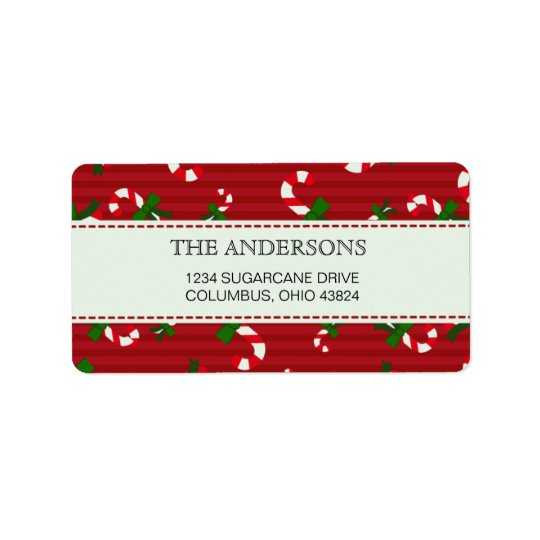 Candycane pattern return address labels