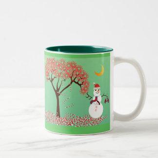 Candycane Tree - Two-Tone Mug