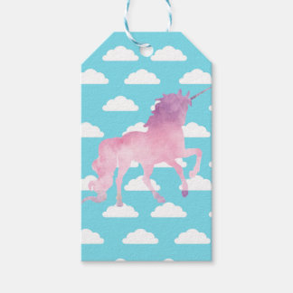 CANDYFLOSS PINK UNICORN CLOUDS WRAPPING GIFT TAGS