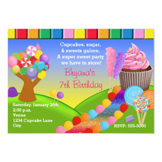 Candyland Candy Land Sweet Cupcakes Invitation