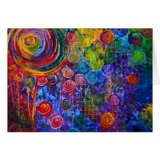 """""""Candyland"""" Rainbow Card Art"""