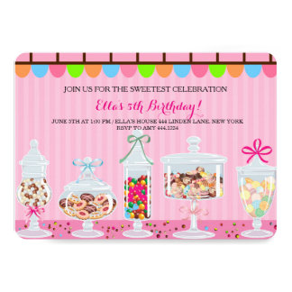 Candyland Sweet Shoppe Birthday Invitations