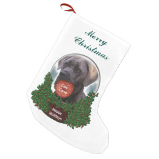 Cane Corso Christmas Small Christmas Stocking