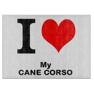 cane corso love cutting board