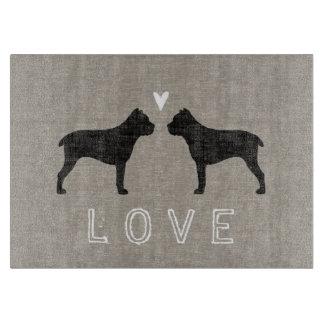Cane Corso Silhouettes Love Cutting Board