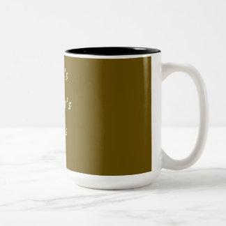 CANECA DE CAFÉ + COFFE'S Two-Tone COFFEE MUG