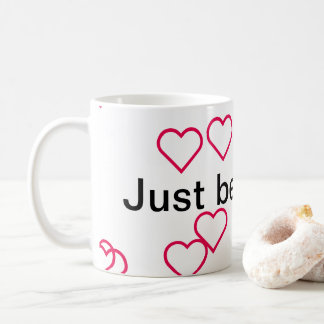 "caneca ""just be happy! coffee mug"