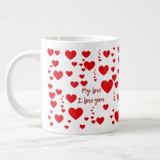 Caneca love large coffee mug