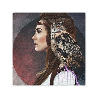 "Caneva ""Owl Lady "" Canvas Print"