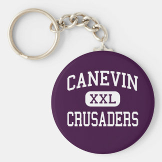 Canevin - Crusaders - Catholic - Pittsburgh Basic Round Button Key Ring