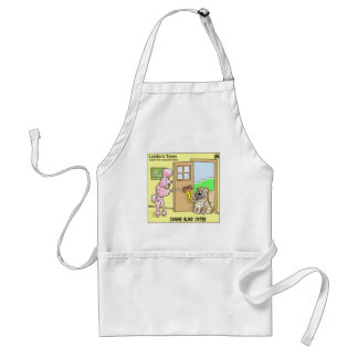 Canine Blind Dates Funny Dog Cartoon Gifts & Tees Standard Apron