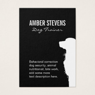 Canine close-up | Dog Training (black) Business Card
