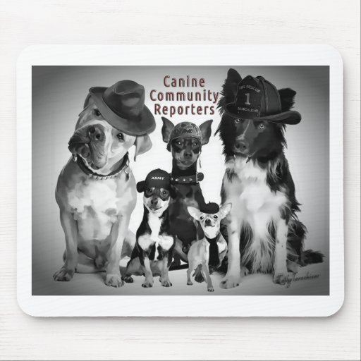 Canine Community Reporters Mouse Pad