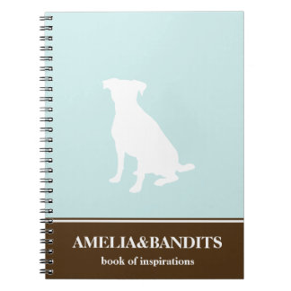 Canine dog pet silhouette blue inspiration journal