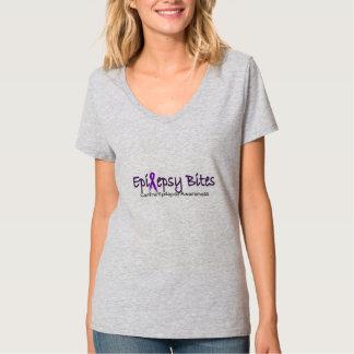 Canine Epilepsy Awareness V-Neck Tee Shirt