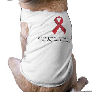"Canine Megaesophagus Support Ribbon ""No Treats"" Shirt"
