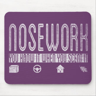 Canine Nosework: You Know it when you Scent It Mouse Pad