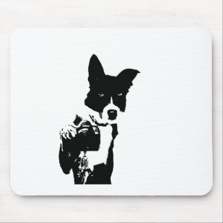 Canine Photographer Mouse Pad