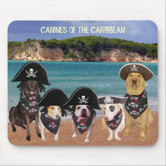 CANINES OF THE CARIBBEAN MOUSE PAD