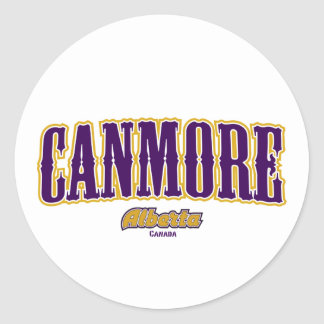 Canmore West Classic Round Sticker