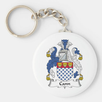 Cann Family Crest Basic Round Button Key Ring