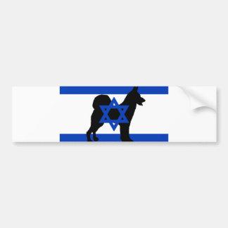 cannan dog silhouette flag_of_israel bumper sticker
